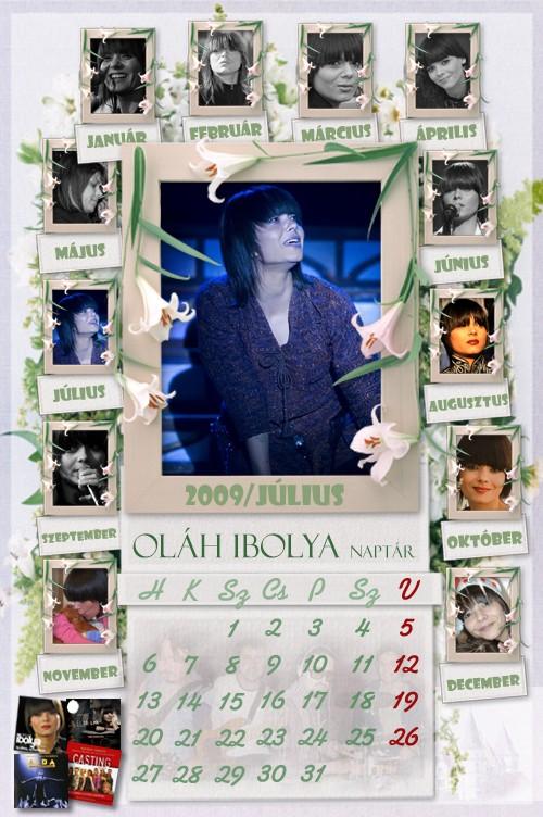 2009 július naptár Naptárak 2009 július naptár