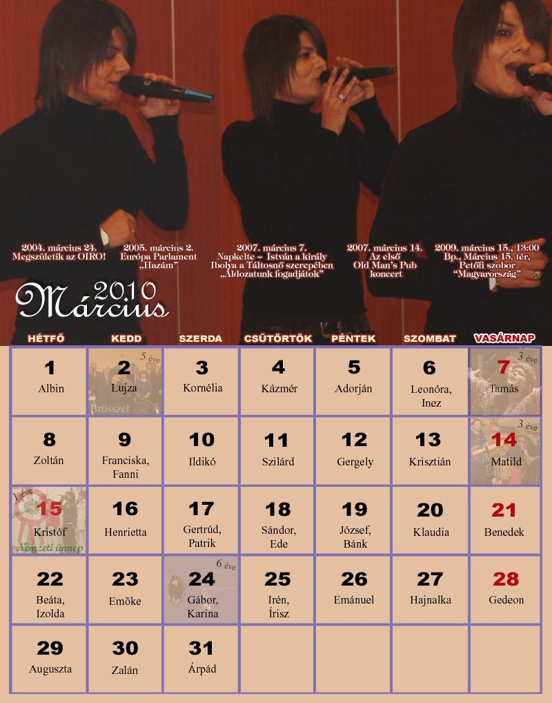2010 januári naptár Naptárak 2010 januári naptár