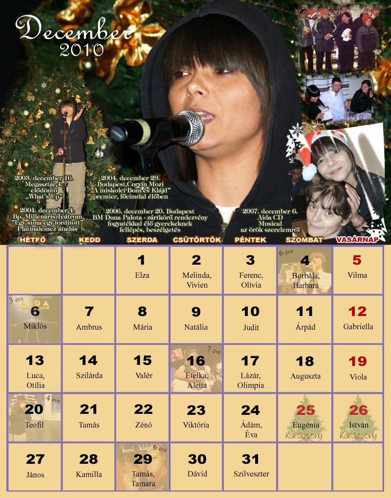 2007 decemberi naptár Naptárak 2007 decemberi naptár